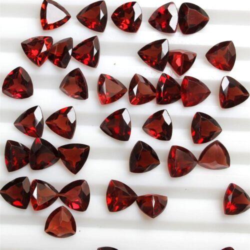 7mm /& 8mm Trillion Cut Mozambique Garnet Loose Calibrated Gem Wholesale Lot 4mm