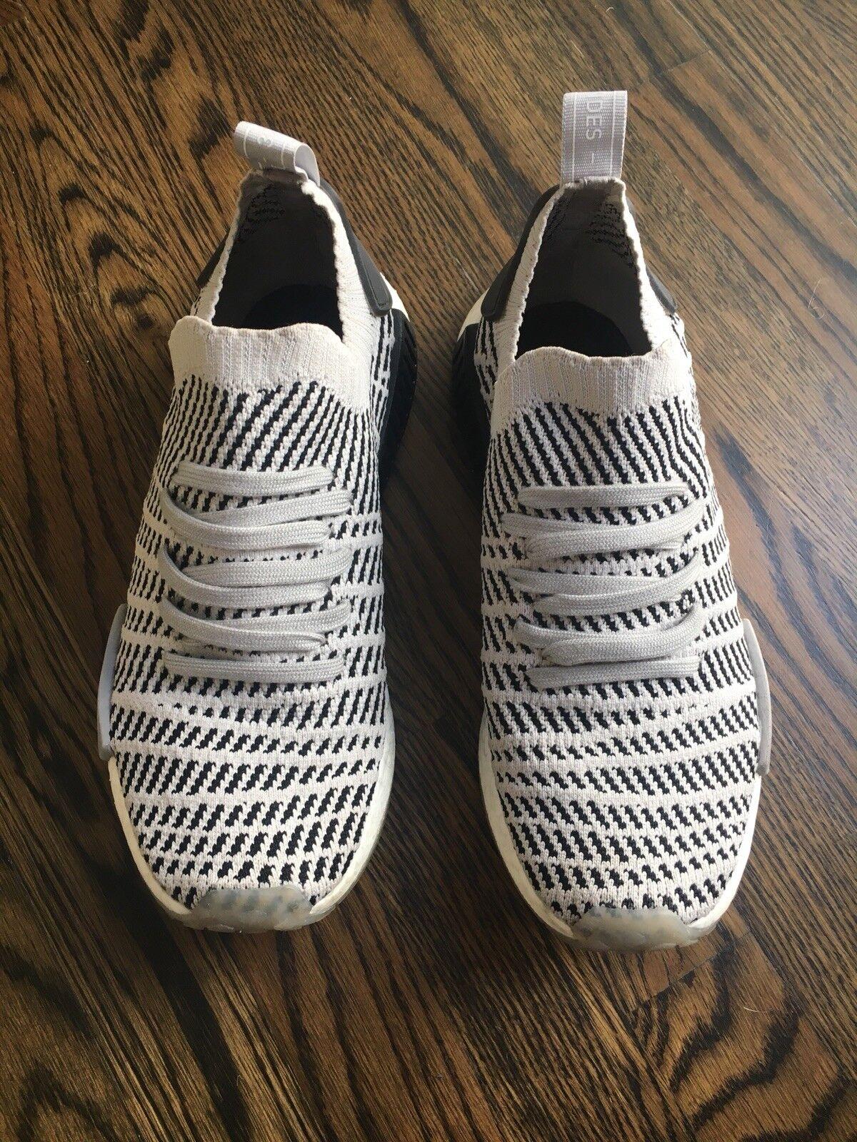 Men's Adidas NMD Runner - R1 STLT Primeknit Shoes - Runner Grey/Core Black, Sz 9 05fd72