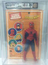 SPIDER MAN AFA 70 EX+ MOC Vintage 1979 Mego Marvel Comics Card Graded
