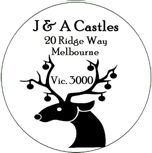 Christmas Stickers Personalised  address and names  envelope seals 100