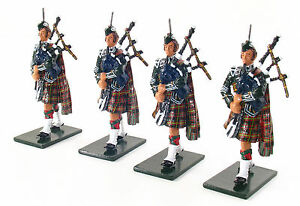 Britains 1st Bn Queen's Own Cameron Highlanders Piper Ajouter Sur Set 48005