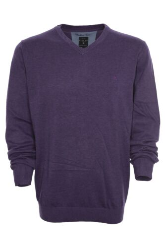 Kitaro Pullover Pulli V Ausschnitt Feinstrick Herren Brilliant Cotton Plusgröße