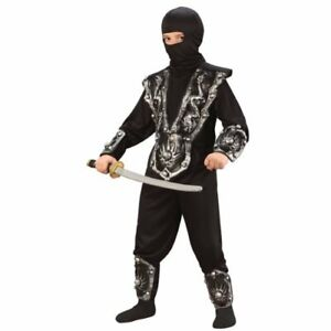 Ninja-Fighter-Halloween-Costume-Boys-Small-4-6-NEW-Halloween-child-Costume