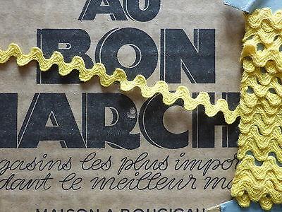 MERCERIE ANCIENNE-GALON CROQUET ROSE-SERPENTINE-Larg.9mm//au m