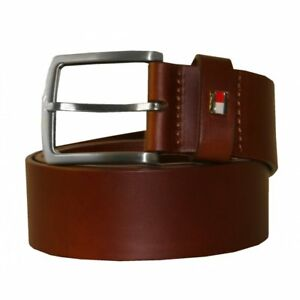 d43b274bb374f2 Image is loading Tommy-Hilfiger-New-Denton-Leather-Belt-Tan-Brown
