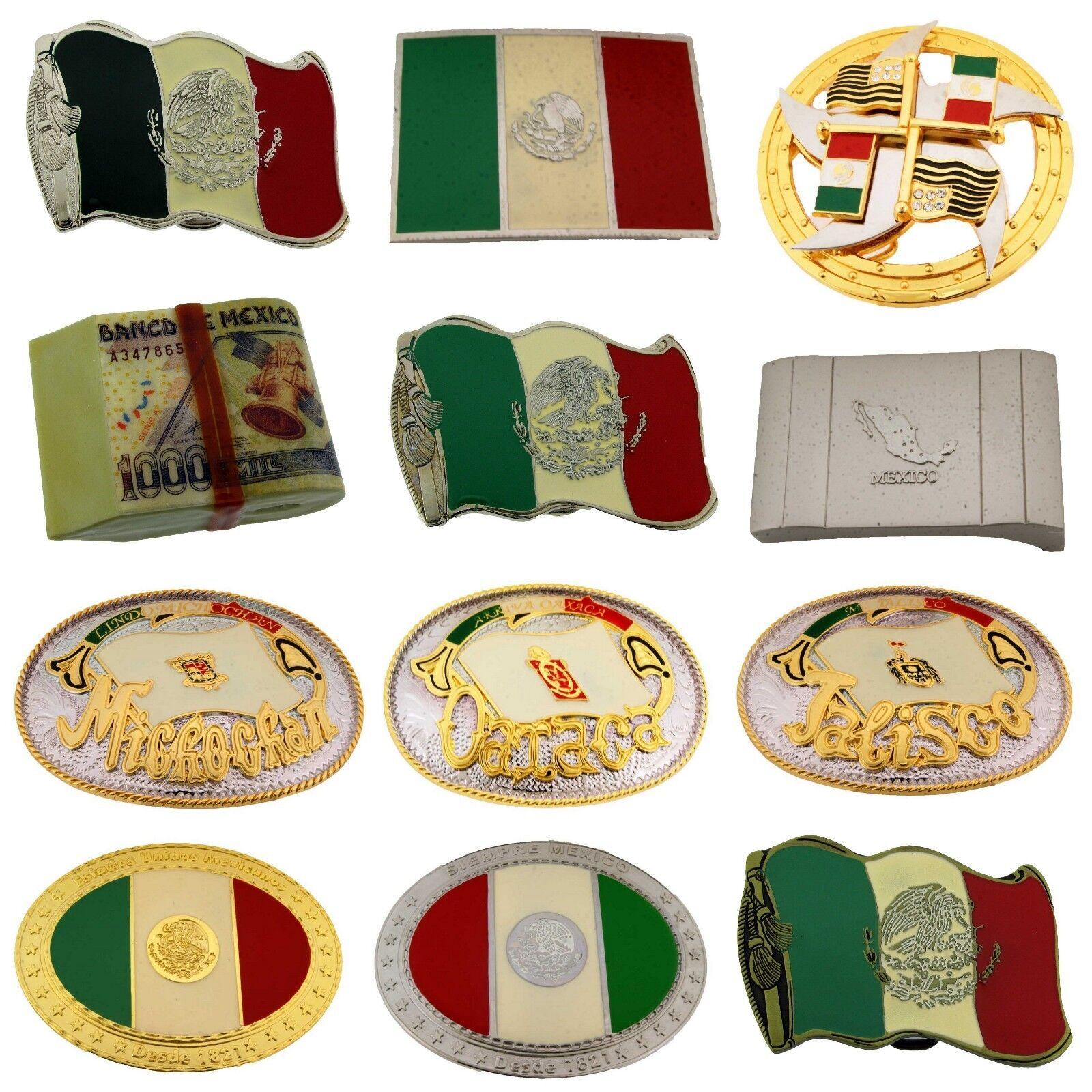 12 Stück Großhandel Mexico Flagge Gürtelschnalle Mexikaner Texan Western Vaquero
