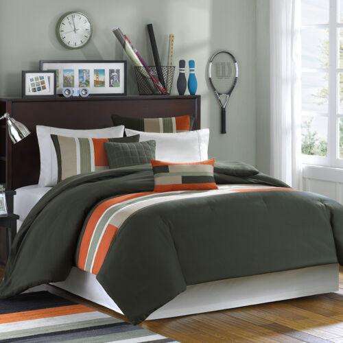 Home Garden Bedding Beautiful Modern, Gray And Orange Bedding