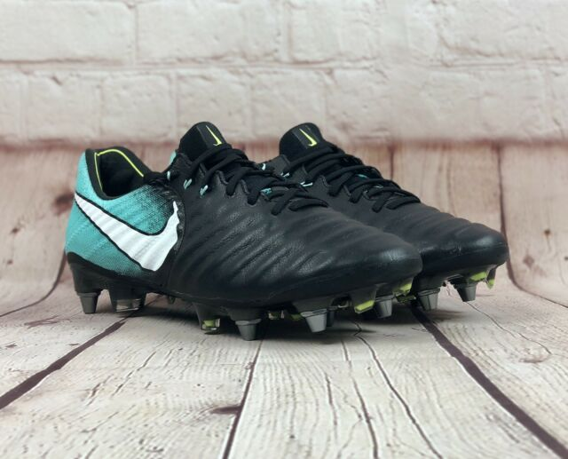 timeless design 79d9d c5d5c Nike Womens Tiempo Legend VII Elite FG Soccer Cleats Black Aqua 917808-004  Sz 8