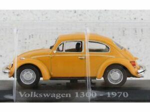 VW Volkswagen Käfer / Beetle 1300 - 1970 - darkyellow - ATLAS 1:43