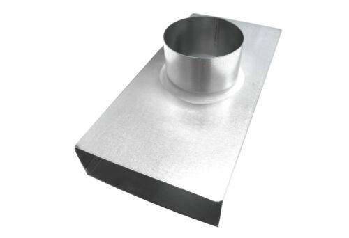 Flachkanal Umlenk-Anschlussstück f Tellerventil b=140D=100 Durchgang ATD14050100