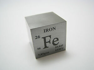 1 inch 25 4 mm iron metal element cube periodic table 98 for 128 grams to ounces conversion table