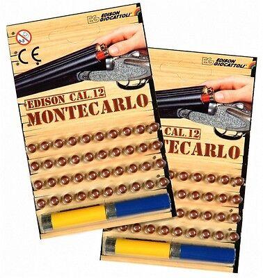 2x40 SCHUSS Montecarlo Munition Edison Giocattoli Cal.12 für Schrotgewehr Gewehr