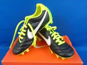 cfa0743e4 Nike Tiempo Mystic IV TF Men's Cleat Black/White/Green 454314 013 SZ ...