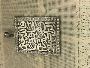 Huge-Allah-Islamic-Muslim-Quran-925-Sterling-Silver-Man-Woman-Pendant-Charm