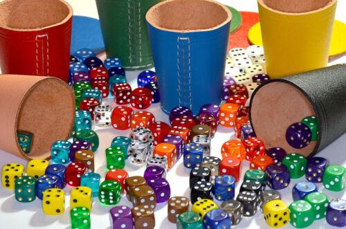 Spiele Frobis 10 Würfelbecher Knobelbecher Blau Leder mit 10 Pads und 60 Würfel