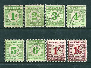 Fiji-1940-Postage-Dues-set-of-8-fine-used-SCARCE