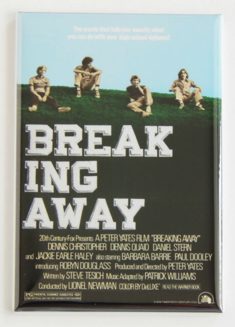 Breaking Away FRIDGE MAGNET (2.5 x 3.5 inches) movie poster bicycle bike