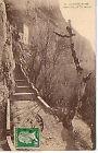 CPA 83 LA SAINTE BAUME escaliers de la grotte