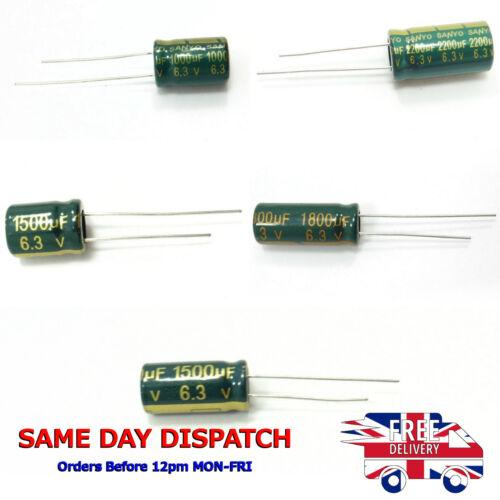 Condensateurs électrolytiques 6.3 V 1000uF-2200uF 105 C low esr Genuine Chong SANYO