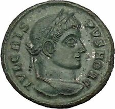 Crispus Constantine the Great son 321AD Ancient Roman Coin Sucess Wreath i53259