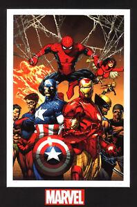 Spider-Man-Human-Torch-Captain-America-Iron-Man-Wasp-Wolverine-Namor-Marvel-Art