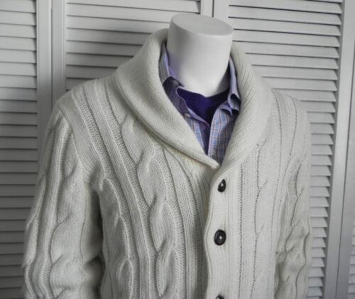 Sweater Cable Cardigan Alpaca Knit Hvit Xl Krage Mens New Peru Sjal Elfenben wqTvAf6z