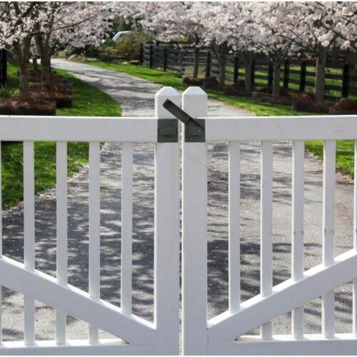 Fence Gate Flip Latch Heavy-Duty Steel Lockable Security Black Simple Design