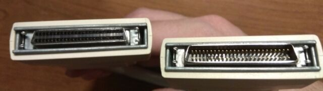 DB25 Male HPDB50 to SCSI2 Female Cable Cord Adapter Plug 50 PIN HP 3COM