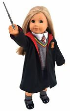 8pc Hogwart Hermione Granger Inspired Doll Clothes Shoes for American Girl Dolls