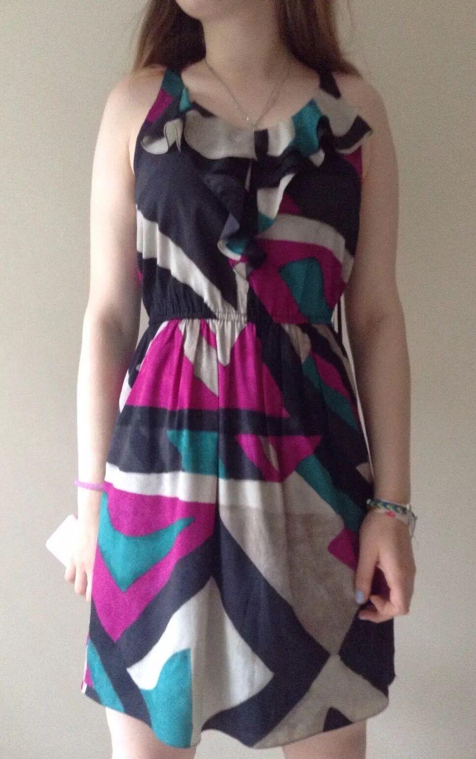 New DKNY sleeveless dress Multi Colour Size S RRP