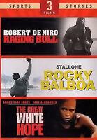 Raging Bull / Rocky Balboa / Great White Hope (dvd, Boxset, 3 Discs)