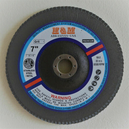 "10pk Pro Flap Discs 7/"" dia x 7//8/"" Zirconium 80 Grit for Angle Grinder Type 27"