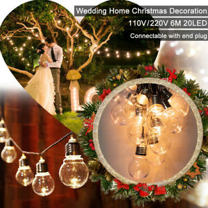 6m-String-Light-Bulb-20-LED-Waterproof-Lamp-Home-Party-Wedding-Decor-Fairy-Lamp
