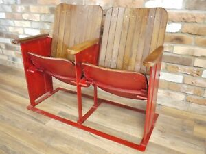 Image Is Loading Industrial Reclaimed Cinema Seating Single Or Double Old