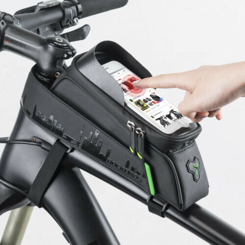 RockBros Waterproof Bicycle Front Tube Frame Bag for 6.0 inch Touch Screen Phone