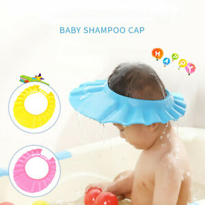 Baby Kids Shampoo Bath Bathing Shower Cap Hat Wash For Kid Safe Soft Hat Ebay
