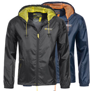 Geographical-Norway-senores-lluvia-chaqueta-Baxter-Windbreaker-lluvia-chaqueta-Outdoor