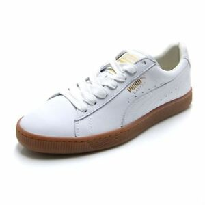 cheap for discount 481a3 f3f44 Details about PUMA Basket Classic Gum Deluxe Men Skateboarding/Casual Shoes  366612 02 White LO