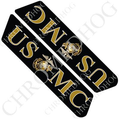 "/""Gloss Black/"" Saddlebag Decal Inserts For Harley Police Models 1996-2007"
