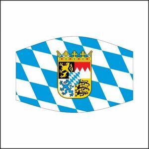 Bayern mit Wappen oval Maske Mundschutz Mund-,Nasenschutz ...