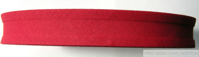 1 INCH ( 25mm ) COTTON BIAS BINDING TAPE 50 METRE ROLL ( CHOICE OF COLOURS )