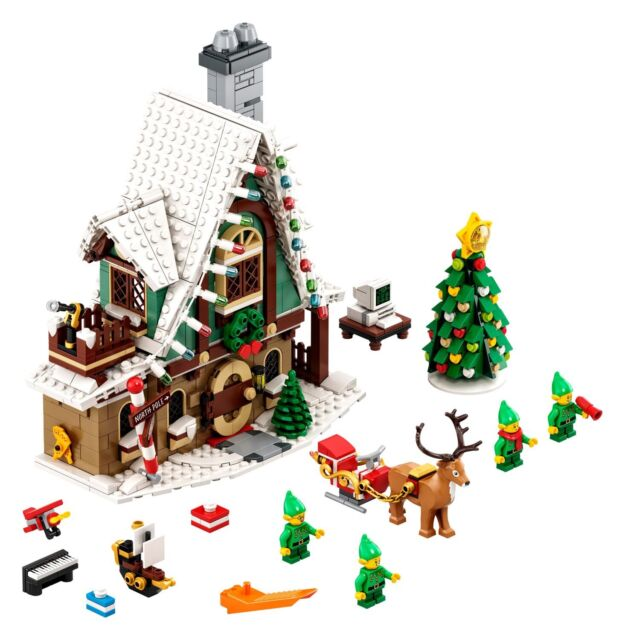 LEGO 10275 Elf Club House; Built once by AFOL; Incl. Minifigs, Instructions, Box