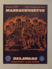 UMASS vs Delaware Football Program October 1969 Great Condition