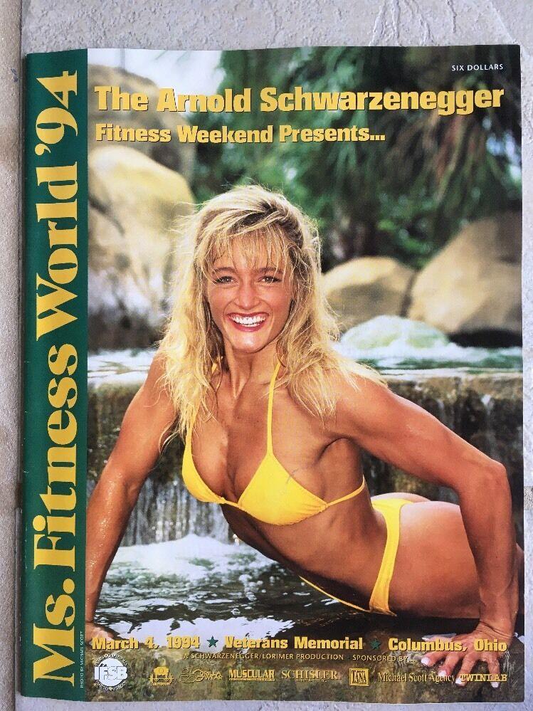 RARE Arnold blackenegger 1994 IFBB Ms.  Fitness World Program AUTOGRAPHED  presenting all the latest high street fashion