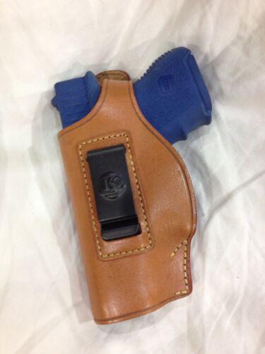 27 LEFT Hand Leather Concealment Holster for  GLOCK 26 # 214L BRN