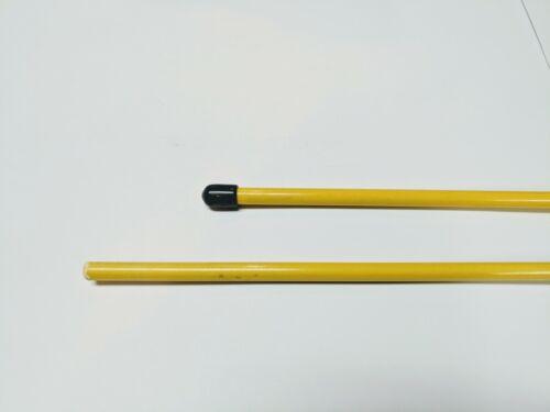 "UTV DuneRats ATV MC Yellow Threaded 2 Piece Fiberglass 7/'x1//4/"" Whip Flag Pole"