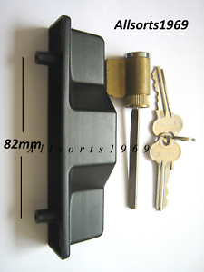 Sliding-glass-door-lock-outer-pull-handle-with-key-cylinder-amp-2-keys