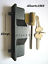 Sliding-glass-door-lock-outer-pull-handle-with-key-cylinder-amp-2-keys thumbnail 1