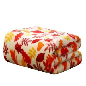 Ultra-Soft-amp-Plush-Fall-Autumn-Leaves-Hypoallergenic-Fleece-Throw-Blanket-Cover