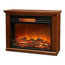 LifeSmart Lifezone ZCFP1008US 1500W 3 Element Infrared Quartz Fireplace Heater